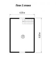 Дом сруб из бруса проект Случь 6х6 м - foto 0